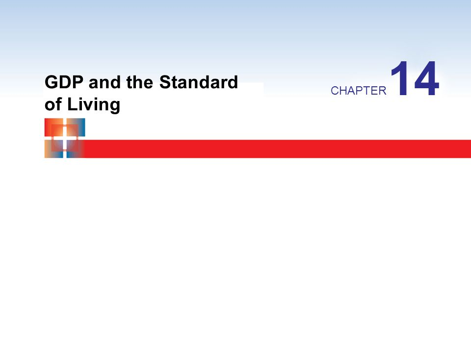 GDP and the Standard of Living CHAPTER 14