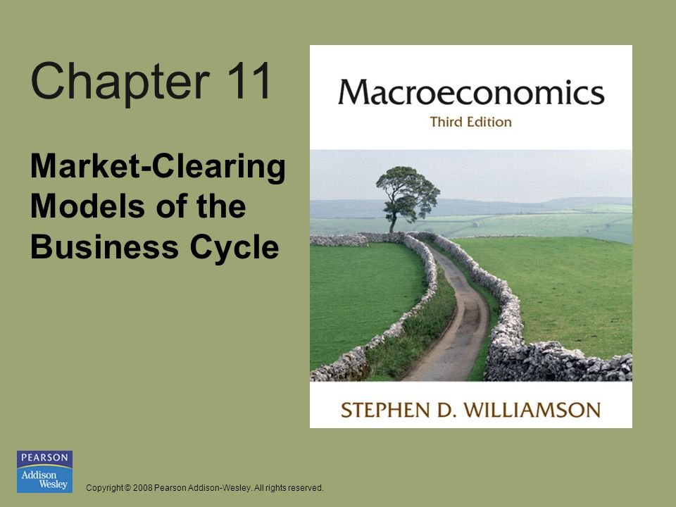 Copyright © 2008 Pearson Addison-Wesley. All rights reserved. Chapter 11 Market-Clearing Models of the Business Cycle