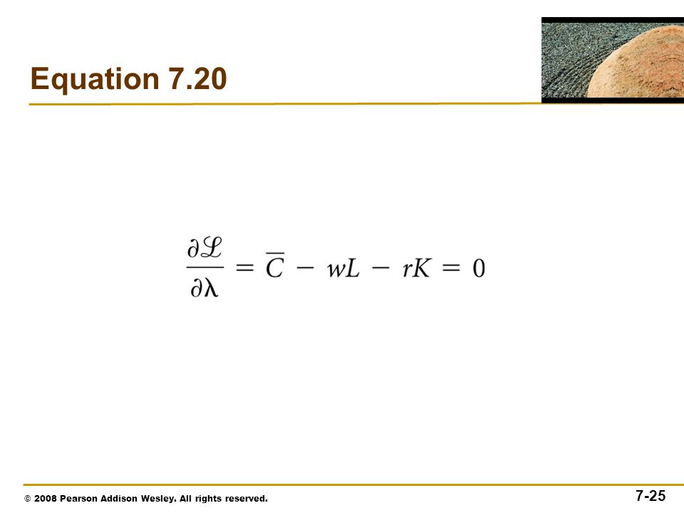 © 2008 Pearson Addison Wesley. All rights reserved. 7-25 Equation 7.20