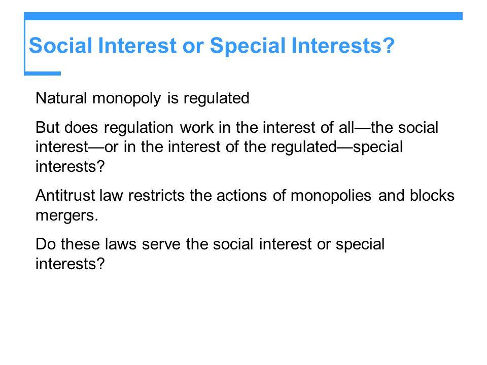 Social Interest or Special Interests.