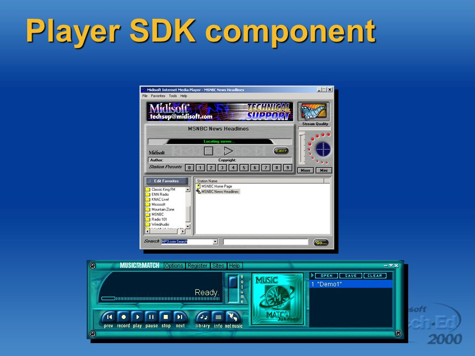 Player SDK component
