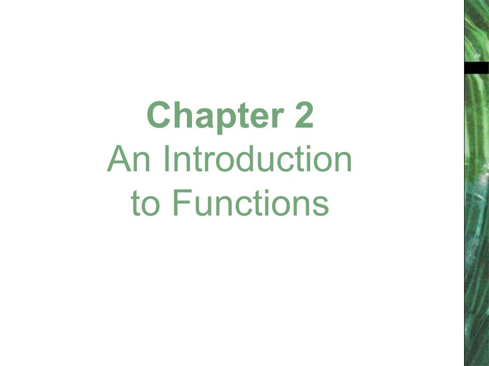 Chapter 2 An Introduction to Functions