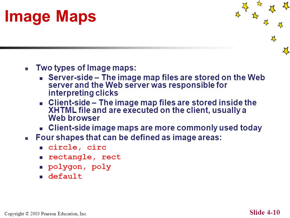Copyright © 2003 Pearson Education, Inc. Slide 4-9 Image Example – Web Browser
