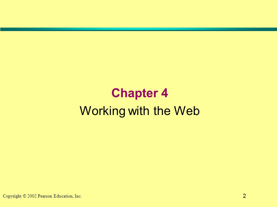 2 Chapter 4 Working with the Web