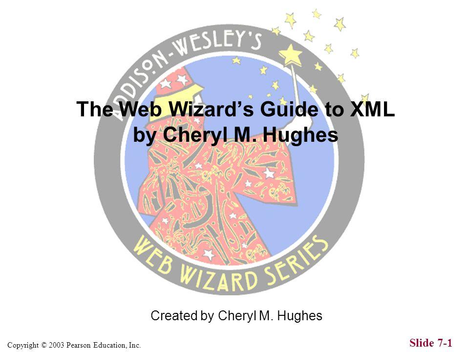 Copyright © 2003 Pearson Education, Inc.Slide 7-1 Created by Cheryl M.