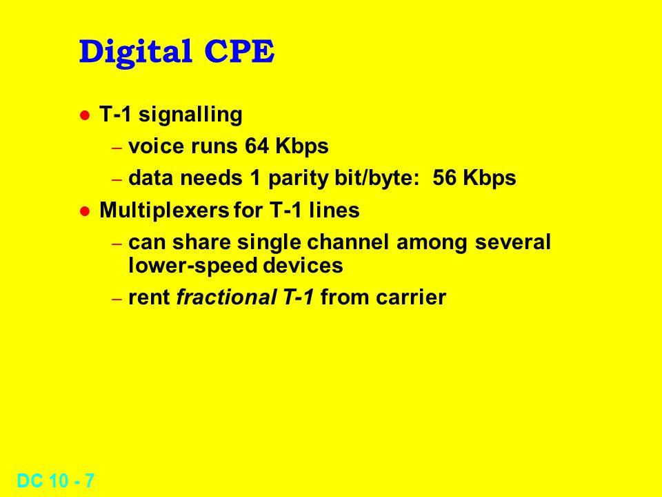 DC 10 - 8 ISDN l Integrated Services Digital Network l Channels l Rates l Services l Trends