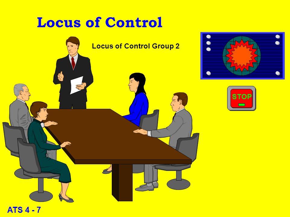ATS 4 - 6 Locus of Control Locus of Control Group 1
