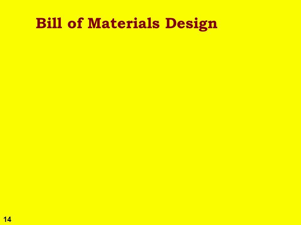 14 Bill of Materials Design
