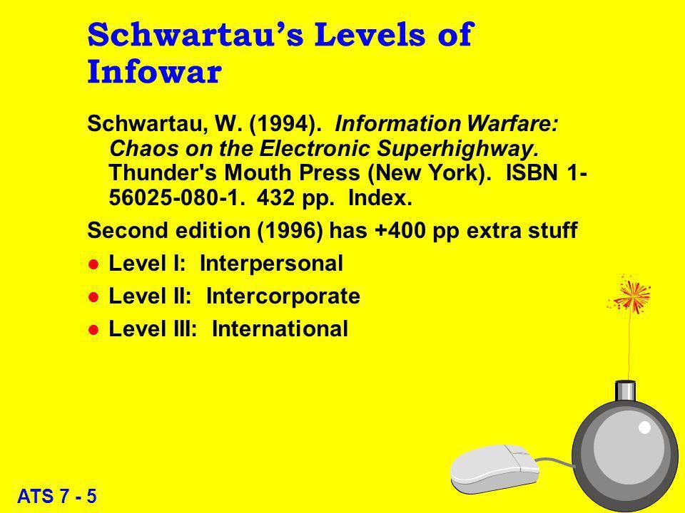 ATS 7 - 5 Schwartaus Levels of Infowar Schwartau, W.