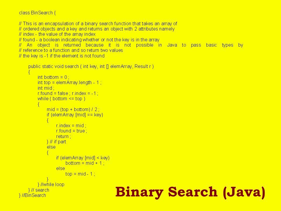 Binary Search (Java)