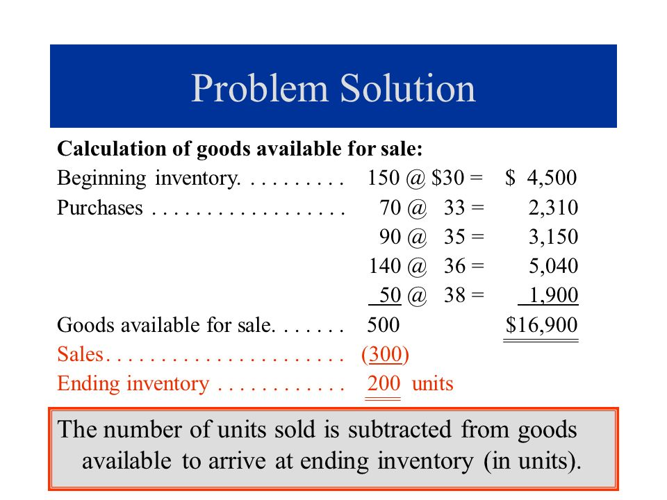 c.(concluded) Under LIFO, the last-in cost changes each time another inventory item is purchased.