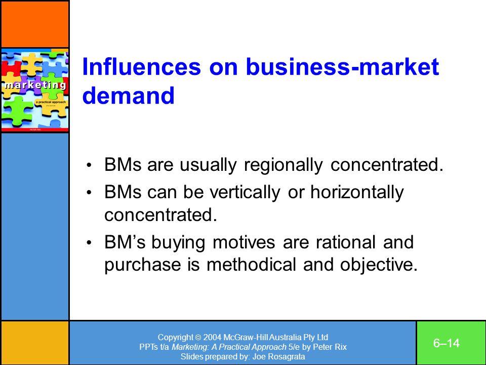 Copyright 2004 McGraw-Hill Australia Pty Ltd PPTs t/a Marketing: A Practical Approach 5/e by Peter Rix Slides prepared by: Joe Rosagrata 6–14 Influenc