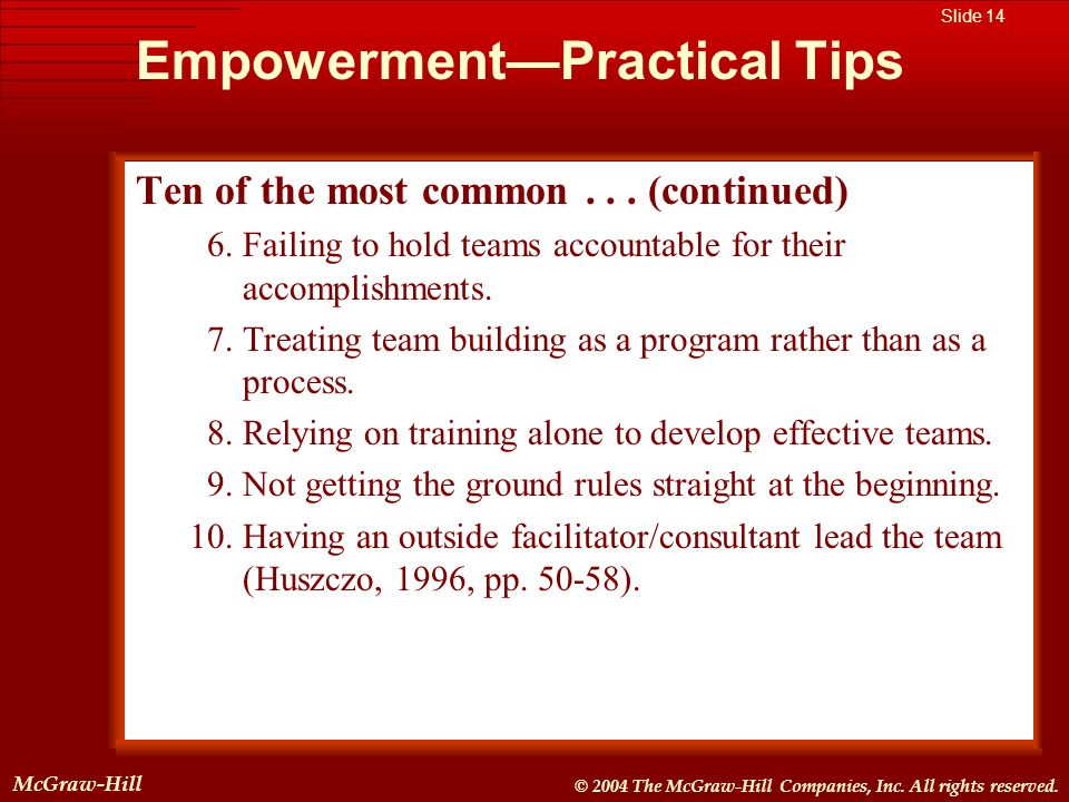 McGraw-Hill © 2004 The McGraw-Hill Companies, Inc. All rights reserved. McGraw-Hill Slide 14 © 2004 The McGraw-Hill Companies, Inc. All rights reserve