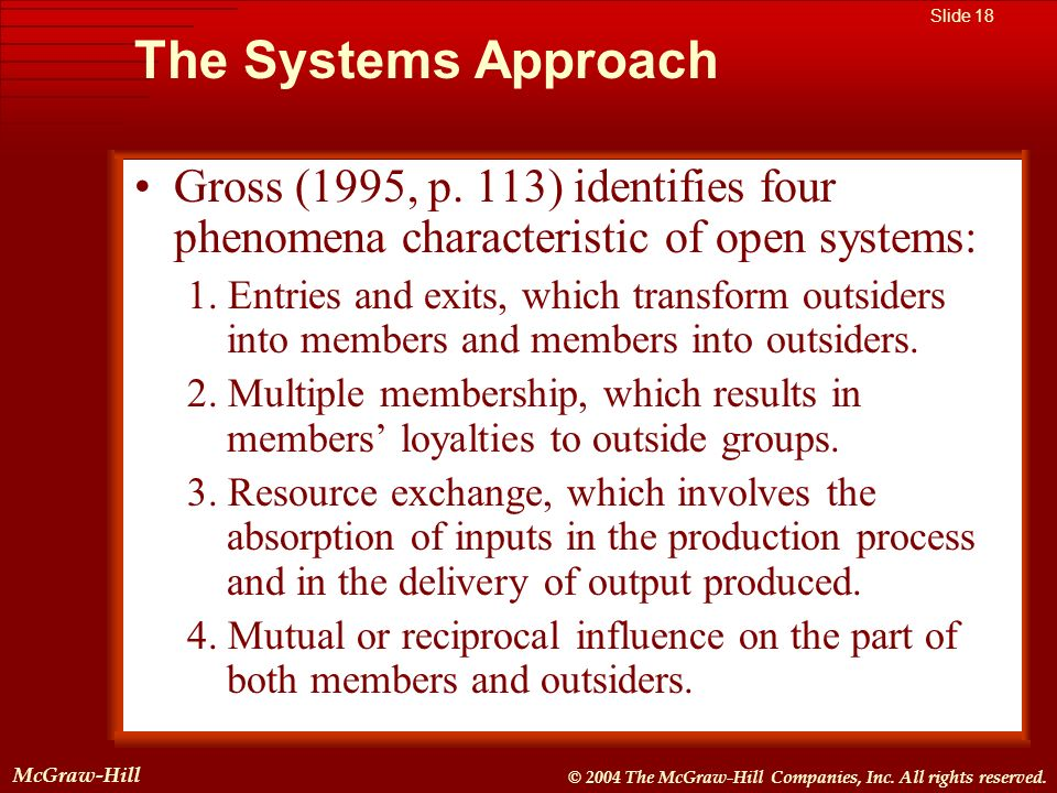 McGraw-Hill © 2004 The McGraw-Hill Companies, Inc. All rights reserved. McGraw-Hill Slide 18 © 2004 The McGraw-Hill Companies, Inc. All rights reserve