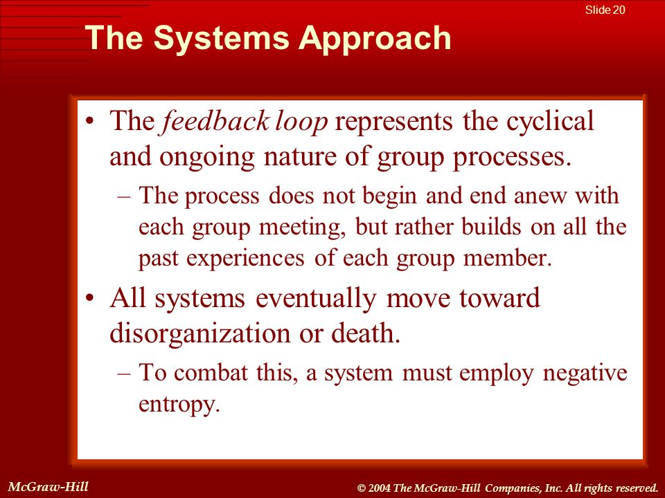 McGraw-Hill © 2004 The McGraw-Hill Companies, Inc. All rights reserved. McGraw-Hill Slide 20 © 2004 The McGraw-Hill Companies, Inc. All rights reserve