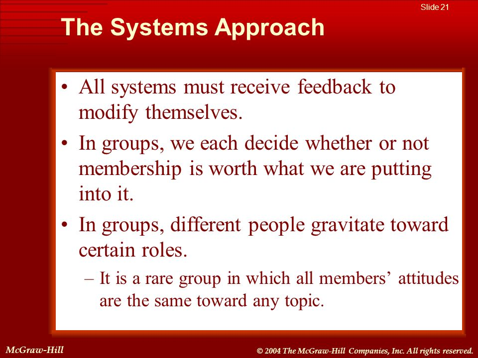 McGraw-Hill © 2004 The McGraw-Hill Companies, Inc. All rights reserved. McGraw-Hill Slide 21 © 2004 The McGraw-Hill Companies, Inc. All rights reserve