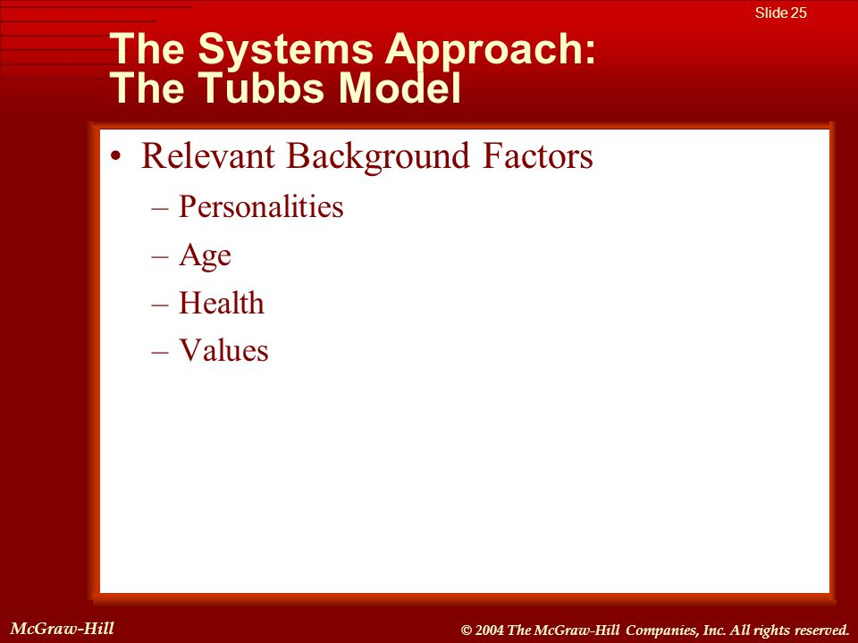 McGraw-Hill © 2004 The McGraw-Hill Companies, Inc. All rights reserved. McGraw-Hill Slide 25 © 2004 The McGraw-Hill Companies, Inc. All rights reserve