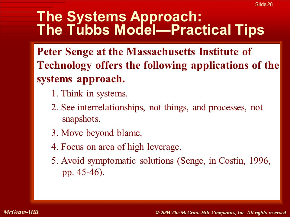 McGraw-Hill © 2004 The McGraw-Hill Companies, Inc. All rights reserved. McGraw-Hill Slide 28 © 2004 The McGraw-Hill Companies, Inc. All rights reserve