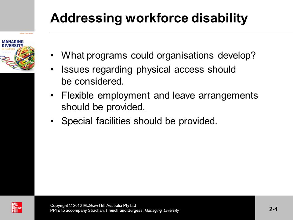 Addressing workforce disability What programs could organisations develop.