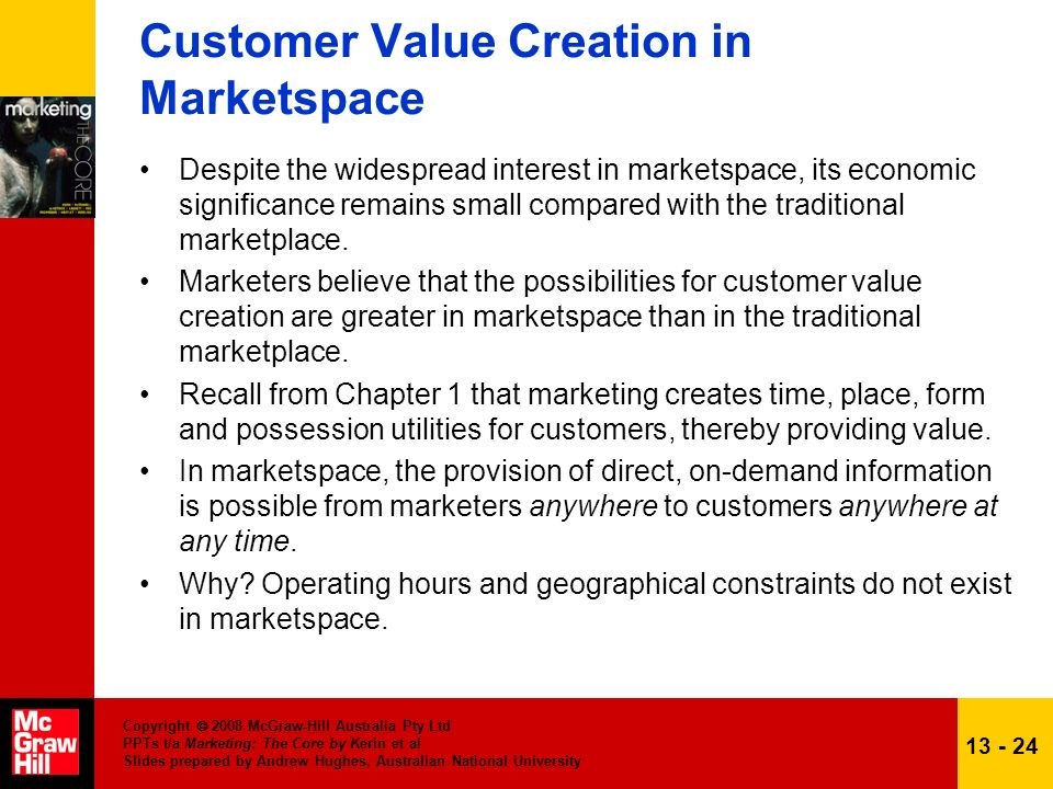Copyright 2008 McGraw-Hill Australia Pty Ltd PPTs t/a Marketing: The Core by Kerin et al Slides prepared by Andrew Hughes, Australian National Univers
