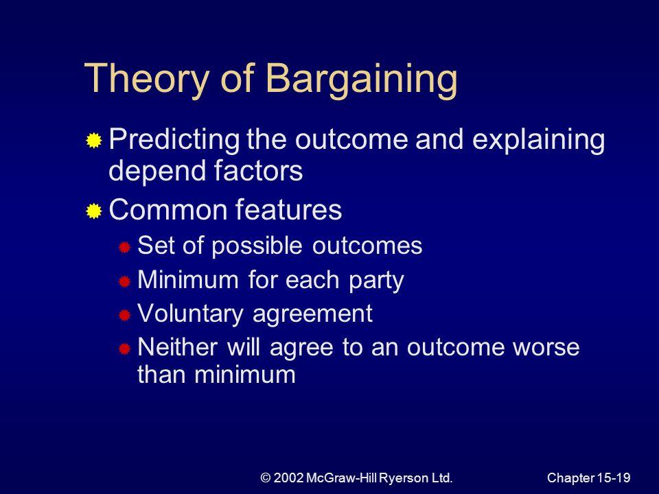 © 2002 McGraw-Hill Ryerson Ltd.Chapter 15-18 Figure 15.6 Inefficient, Approximately Efficient, and Efficient Contracts E W C C DLCDLC DLDL