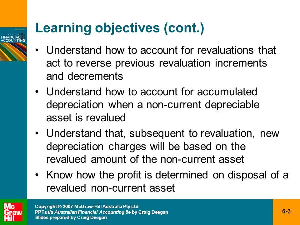 6-3 Copyright 2007 McGraw-Hill Australia Pty Ltd PPTs t/a Australian Financial Accounting 5e by Craig Deegan Slides prepared by Craig Deegan Learning