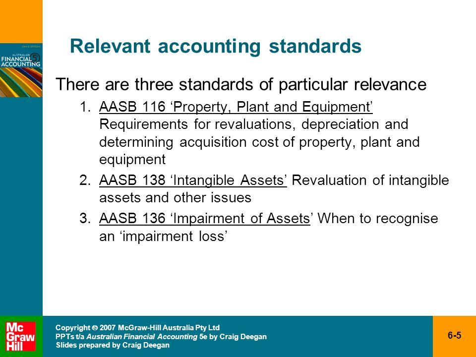 6-5 Copyright 2007 McGraw-Hill Australia Pty Ltd PPTs t/a Australian Financial Accounting 5e by Craig Deegan Slides prepared by Craig Deegan Relevant