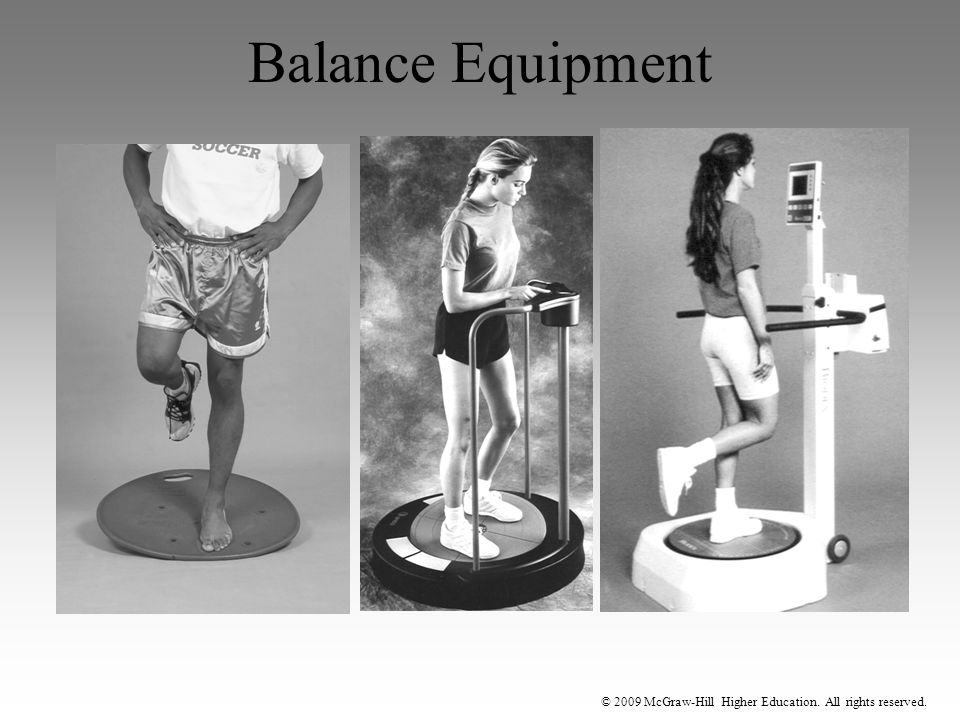 © 2009 McGraw-Hill Higher Education. All rights reserved. Balance Equipment