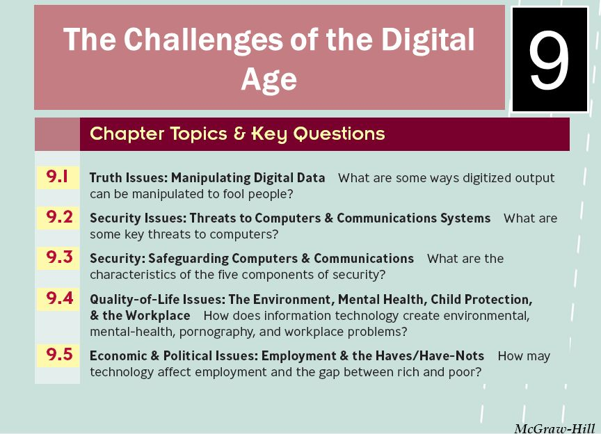 9 McGraw-Hill The Challenges of the Digital Age