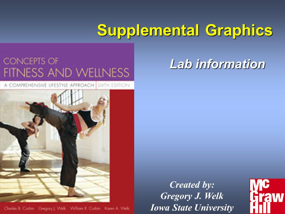 26Concepts of Physical Fitness 6e Supplemental Graphics Lab information Created by: Gregory J.