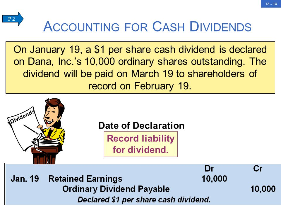 13 - 13 Date of Declaration Record liability for dividend.