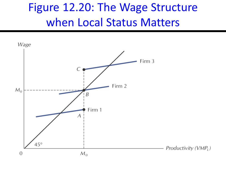 14-35 Figure 12.20: The Wage Structure when Local Status Matters