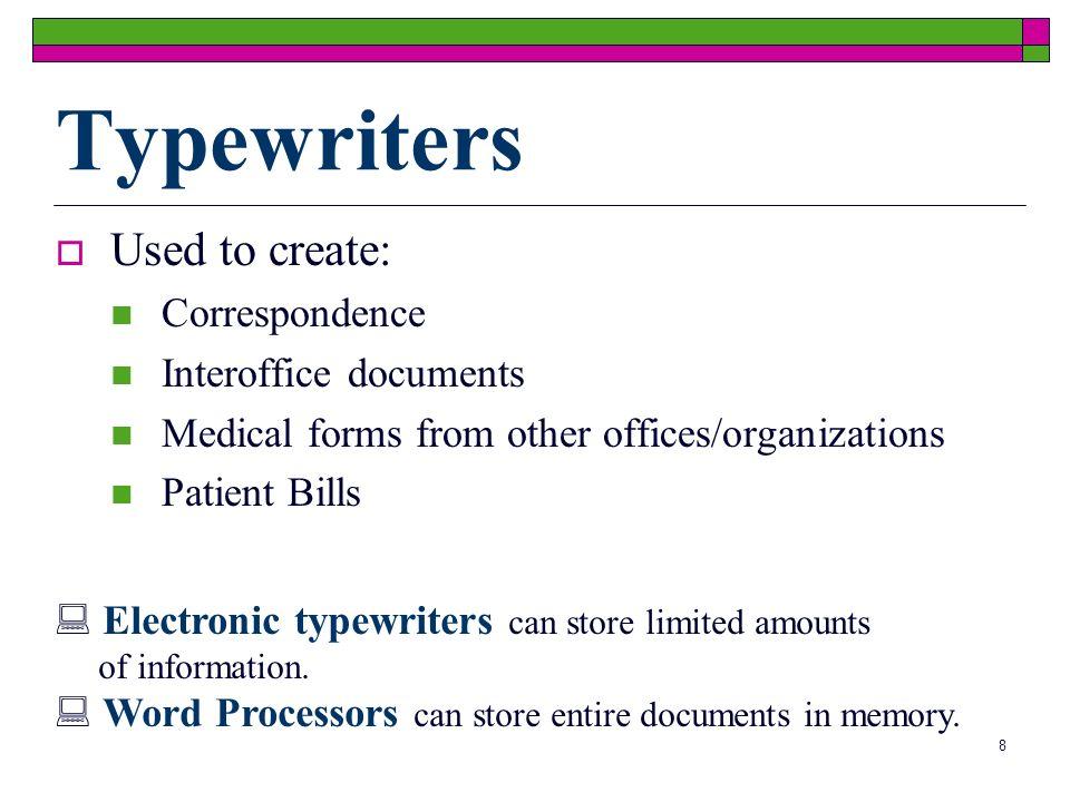 7 Facsimile Machines Converts impulses into exact duplicate of original document Translates image into electronic impulses Transmits impulses via a ph