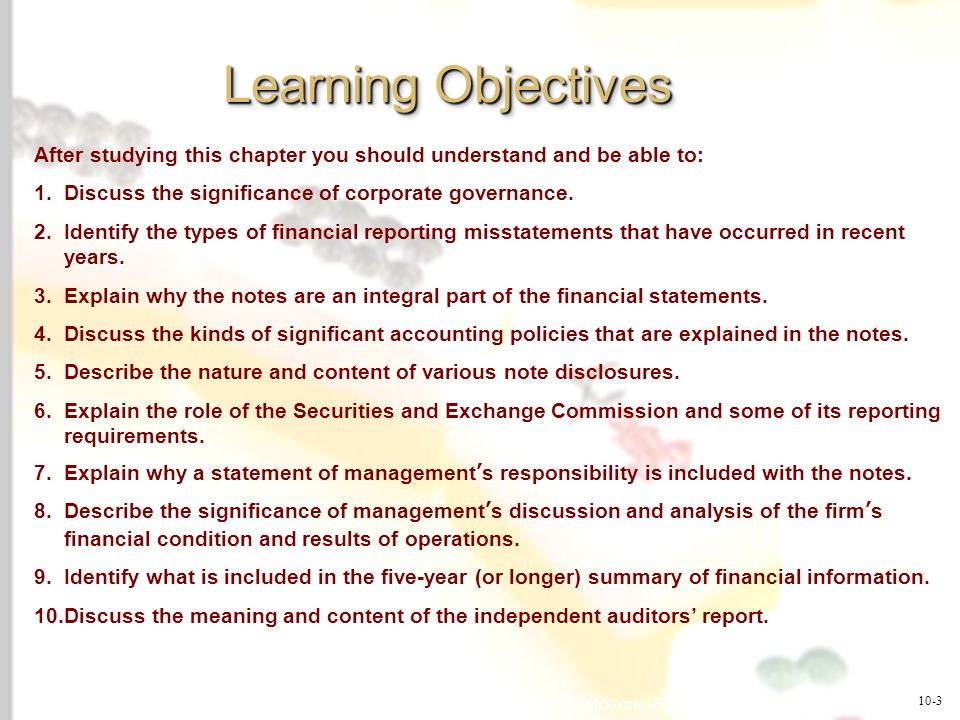 McGraw-Hill/Irwin © 2008 The McGraw-Hill Companies, Inc., All Rights Reserved. 1-3 Learning Objectives After studying this chapter you should understa