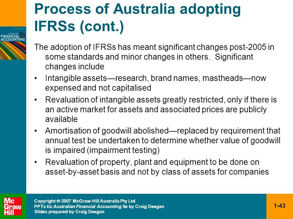 1-43 Copyright 2007 McGraw-Hill Australia Pty Ltd PPTs t/a Australian Financial Accounting 5e by Craig Deegan Slides prepared by Craig Deegan Process
