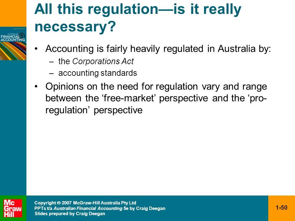 1-50 Copyright 2007 McGraw-Hill Australia Pty Ltd PPTs t/a Australian Financial Accounting 5e by Craig Deegan Slides prepared by Craig Deegan All this