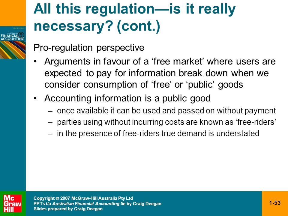 1-53 Copyright 2007 McGraw-Hill Australia Pty Ltd PPTs t/a Australian Financial Accounting 5e by Craig Deegan Slides prepared by Craig Deegan All this