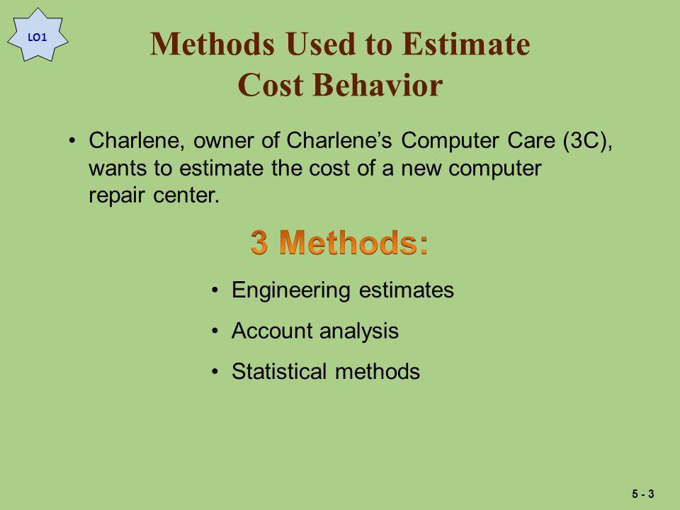 Engineering Estimates L.O.2 Estimate costs using engineering estimates.