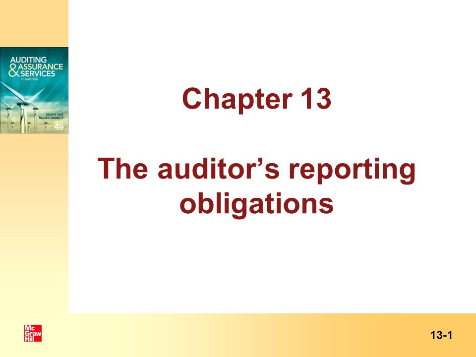 Learning objective 1: Obligations to report ASA/ISA 200.11: objective of an audit of the financial report is to enable the auditor to express an opinion as to whether the financial report is prepared, in all material respects, in accordance with an applicable financial reporting framework.