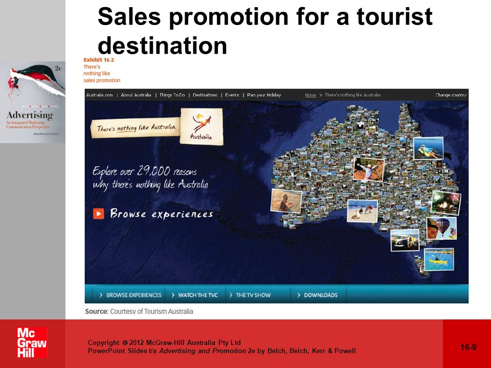 16-9 Copyright 2012 McGraw-Hill Australia Pty Ltd PowerPoint Slides t/a Advertising and Promotion 2e by Belch, Belch, Kerr & Powell Sales promotion fo