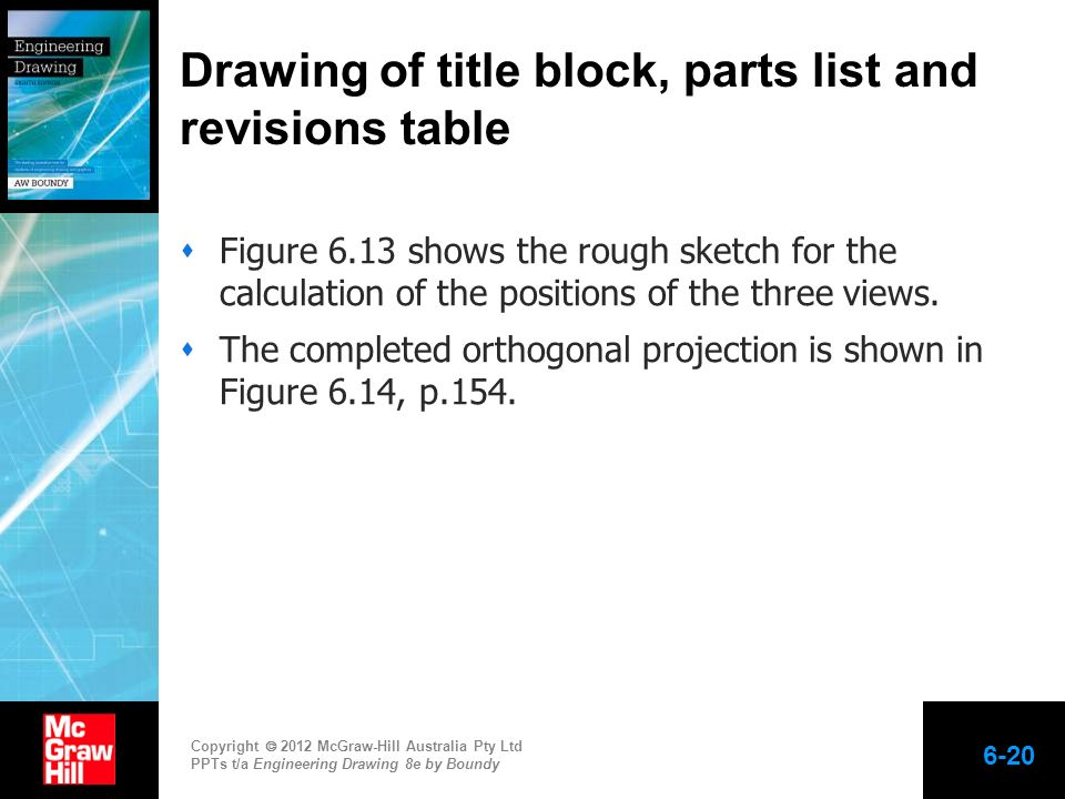 Copyright 2012 McGraw-Hill Australia Pty Ltd PPTs t/a Engineering Drawing 8e by Boundy Figure 6.13 shows the rough sketch for the calculation of the p