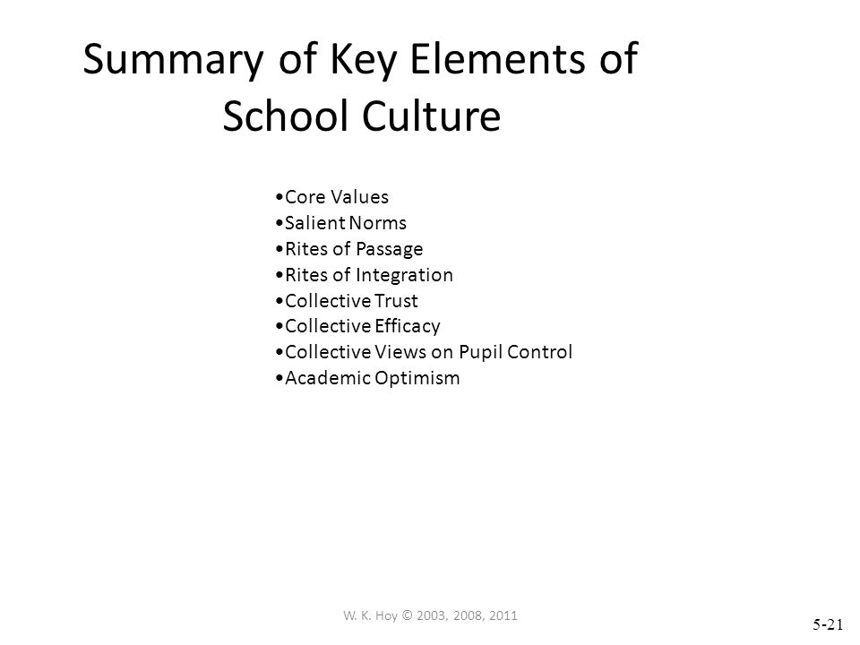 5-20 W. K. Hoy © 2003, 2008, 2011 PUPIL CONTROL IDEOLOGY: FORM PCI The custodialism of the school climate can be measured by the Pupil Control Ideolog