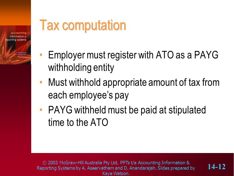 © 2003 McGraw-Hill Australia Pty Ltd, PPTs t/a Accounting Information & Reporting Systems by A. Aseervatham and D. Anandarajah. Slides prepared by Kay