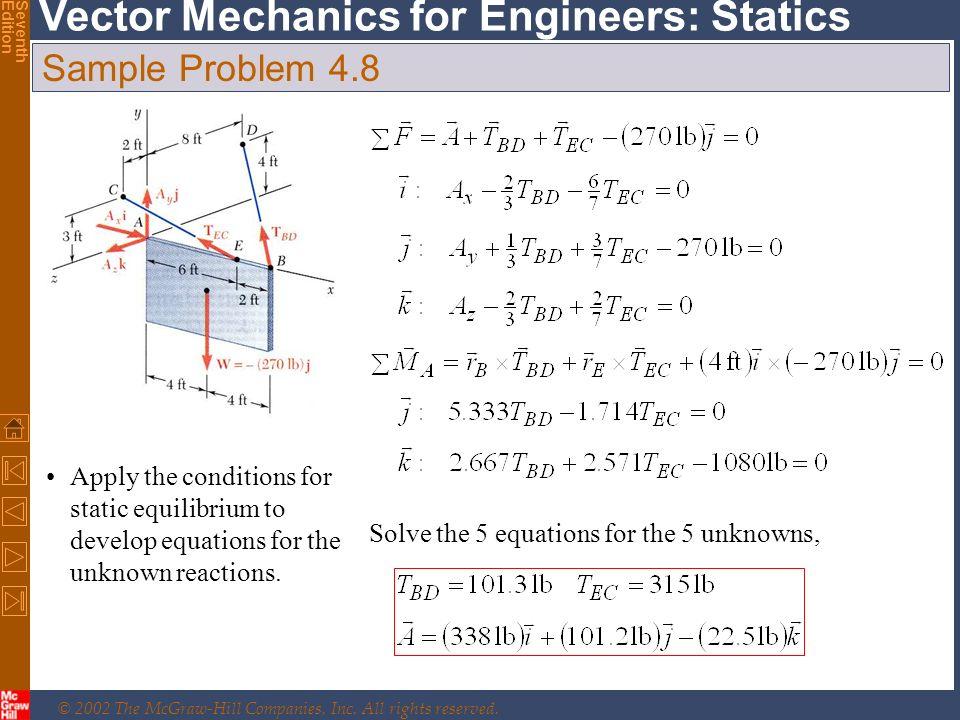 Solving Statics Problems