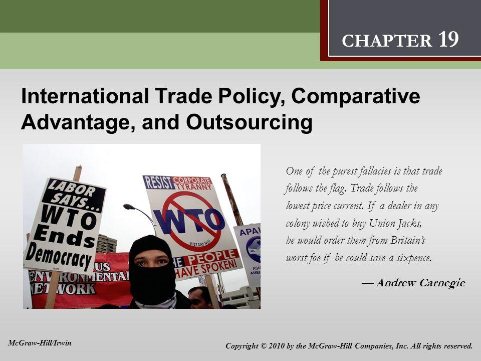 International Trade Policy, Comparative Advantage, and Outsourcing 9 International Trade Policy, Comparative Advantage, and Outsourcing One of the pur