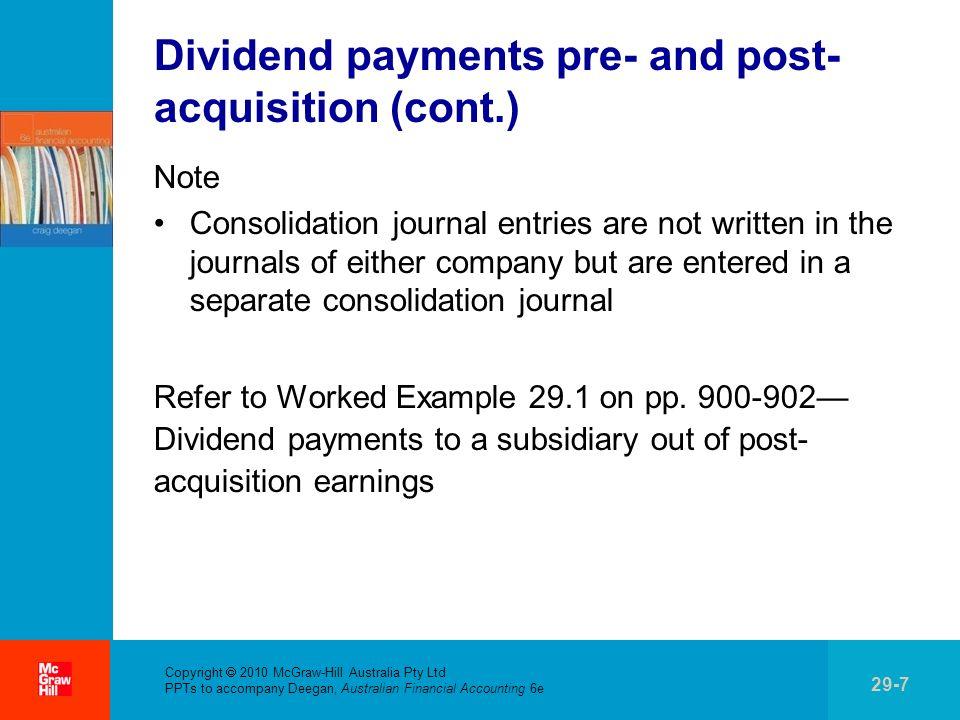 . Copyright 2010 McGraw-Hill Australia Pty Ltd PPTs to accompany Deegan, Australian Financial Accounting 6e 29-18