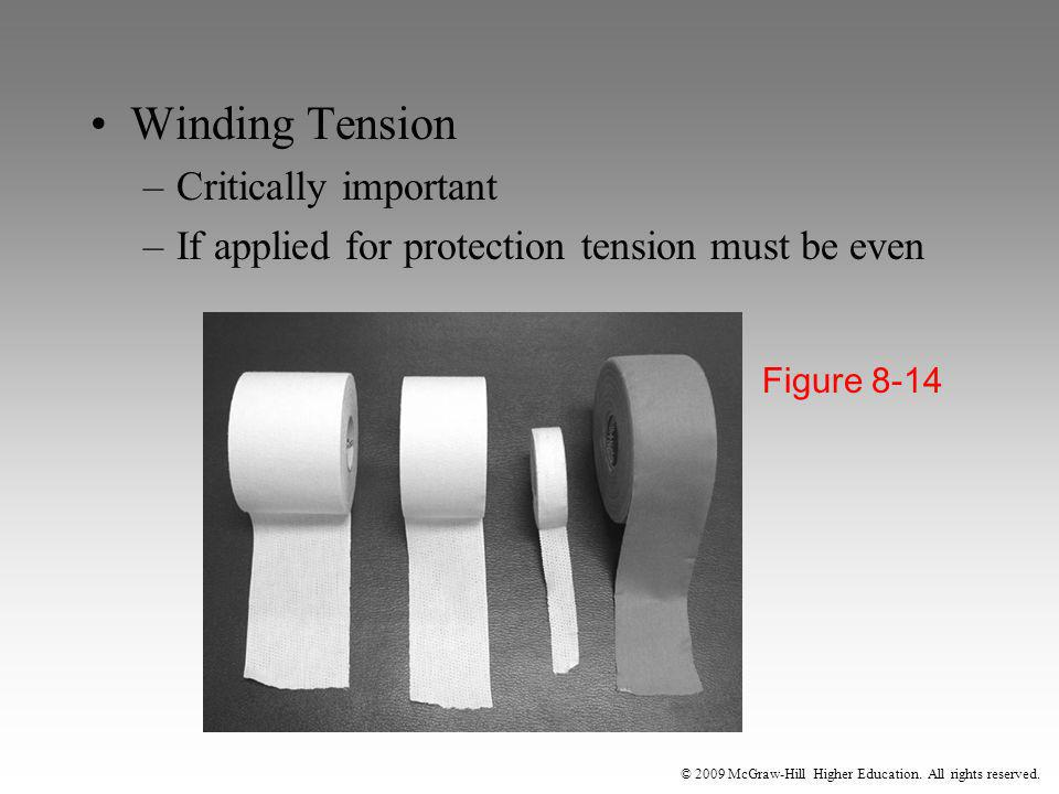 © 2009 McGraw-Hill Higher Education. All rights reserved. Winding Tension –Critically important –If applied for protection tension must be even Figure