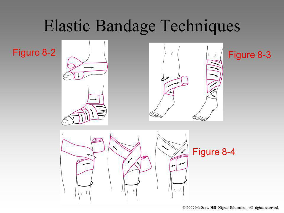 © 2009 McGraw-Hill Higher Education. All rights reserved. Elastic Bandage Techniques Figure 8-2 Figure 8-3 Figure 8-4