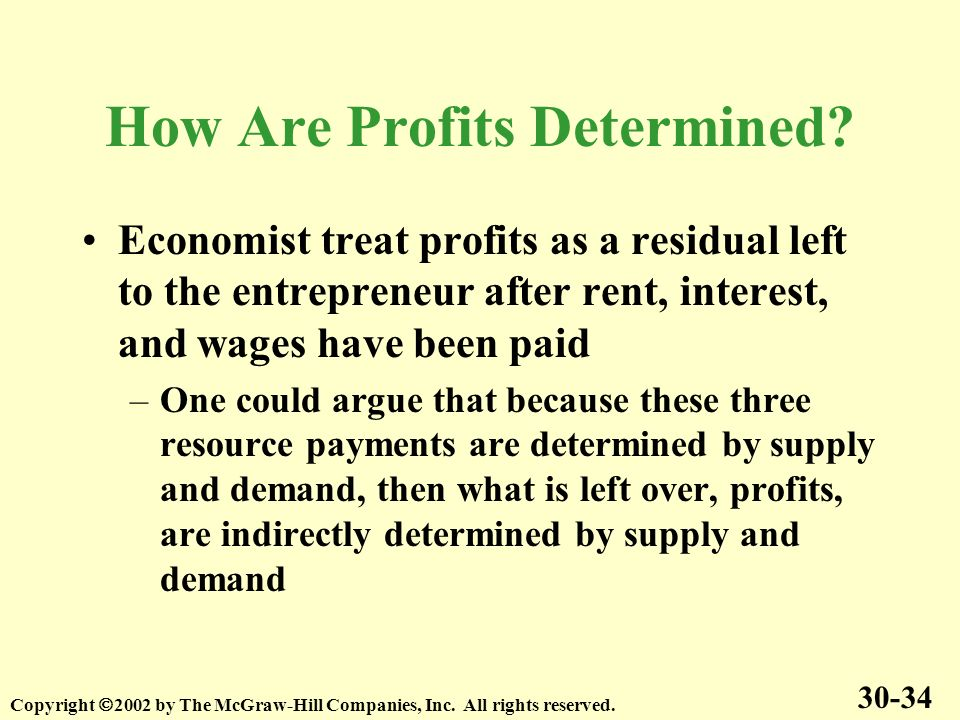 How Are Profits Determined.