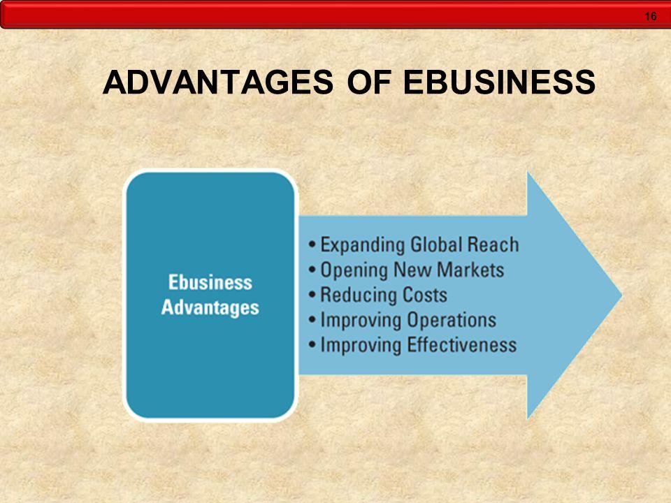 16 ADVANTAGES OF EBUSINESS